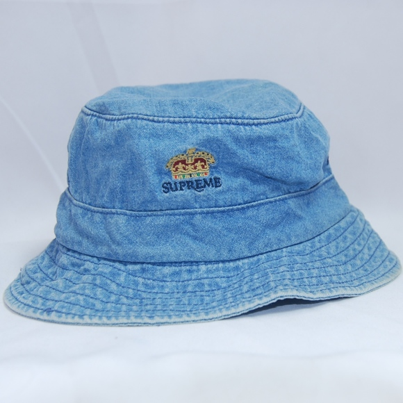 NWT Authentic Supreme Denim Bucket Hat Sz M L a89cfefa9ad